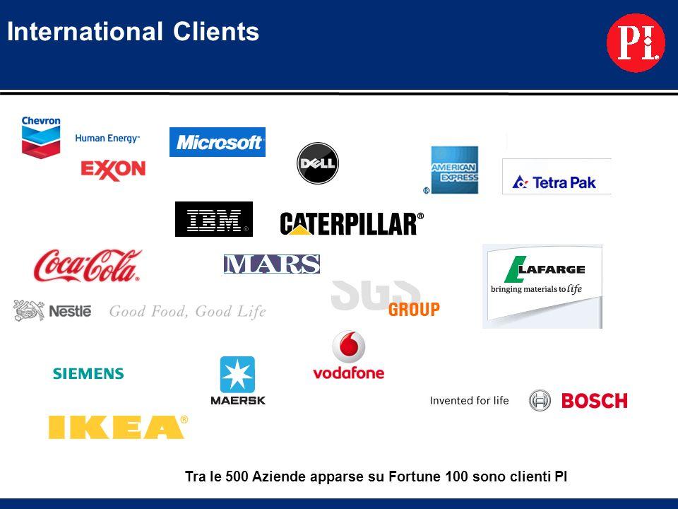 Tra le 500 Aziende apparse su Fortune 100 sono clienti PI