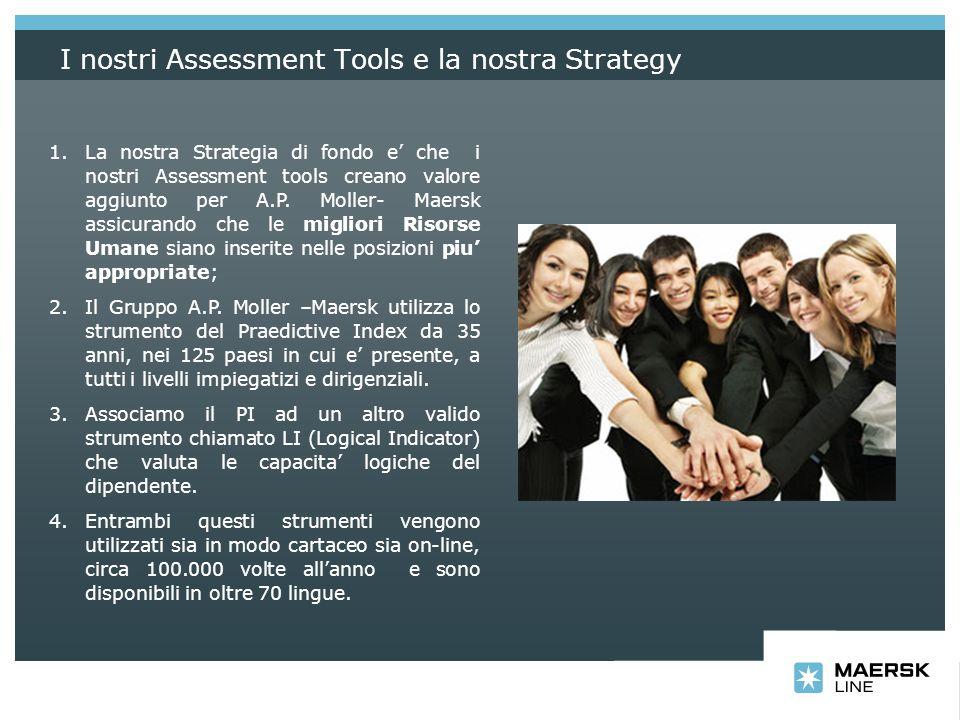 I nostri Assessment Tools e la nostra Strategy