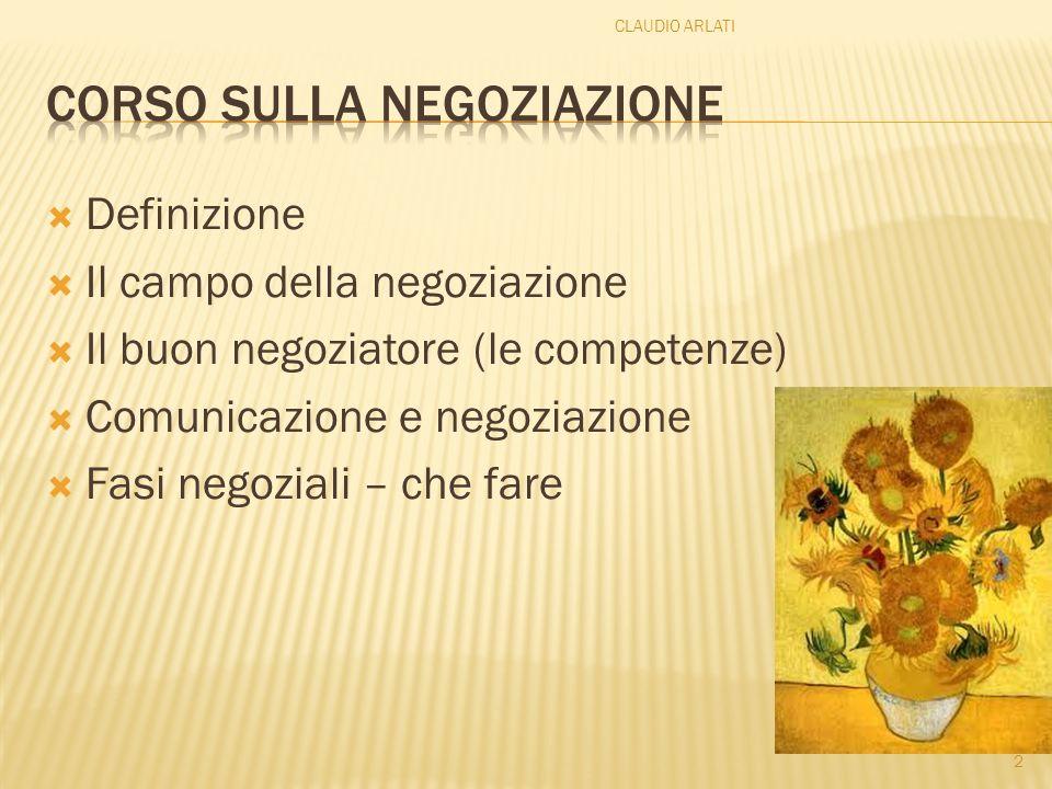 Corso sulla negoziazione