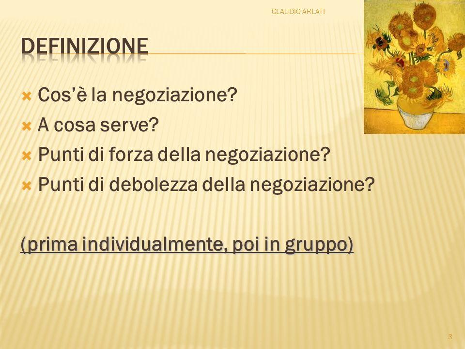 definizione Cos'è la negoziazione A cosa serve