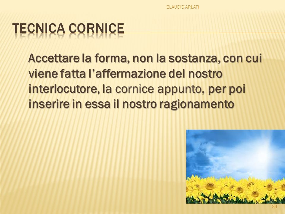 CLAUDIO ARLATI Tecnica cornice.