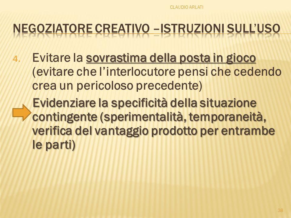 Negoziatore creativo –istruzioni sull'uso