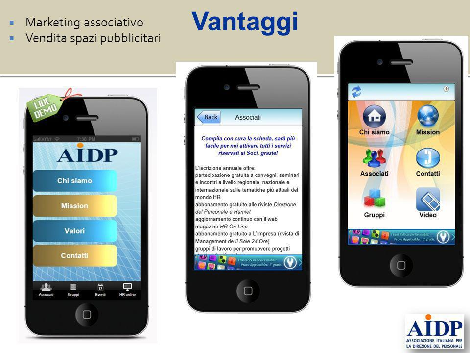 Vantaggi Marketing associativo Vendita spazi pubblicitari