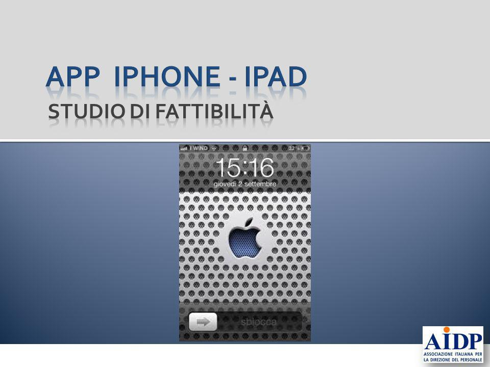 App Iphone - IPAD Studio di fattibilità