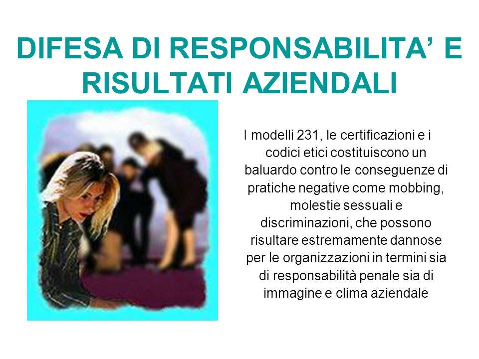 DIFESA DI RESPONSABILITA' E RISULTATI AZIENDALI