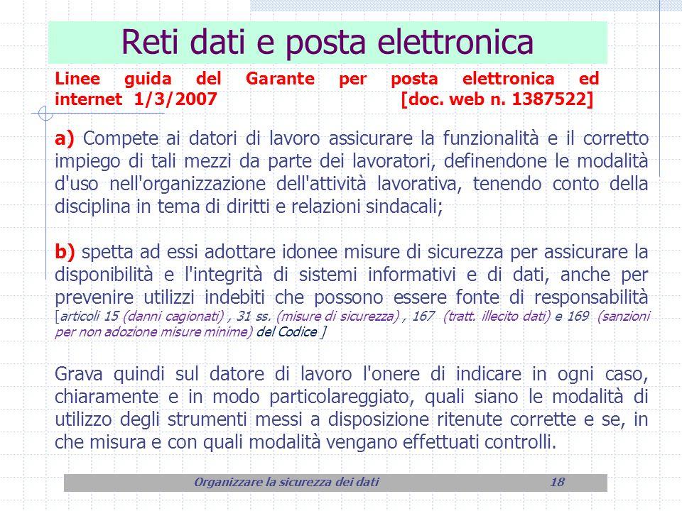 Reti dati e posta elettronica