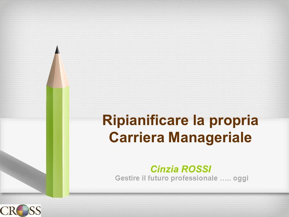 Ripianificare la propria Carriera Manageriale Cinzia ROSSI