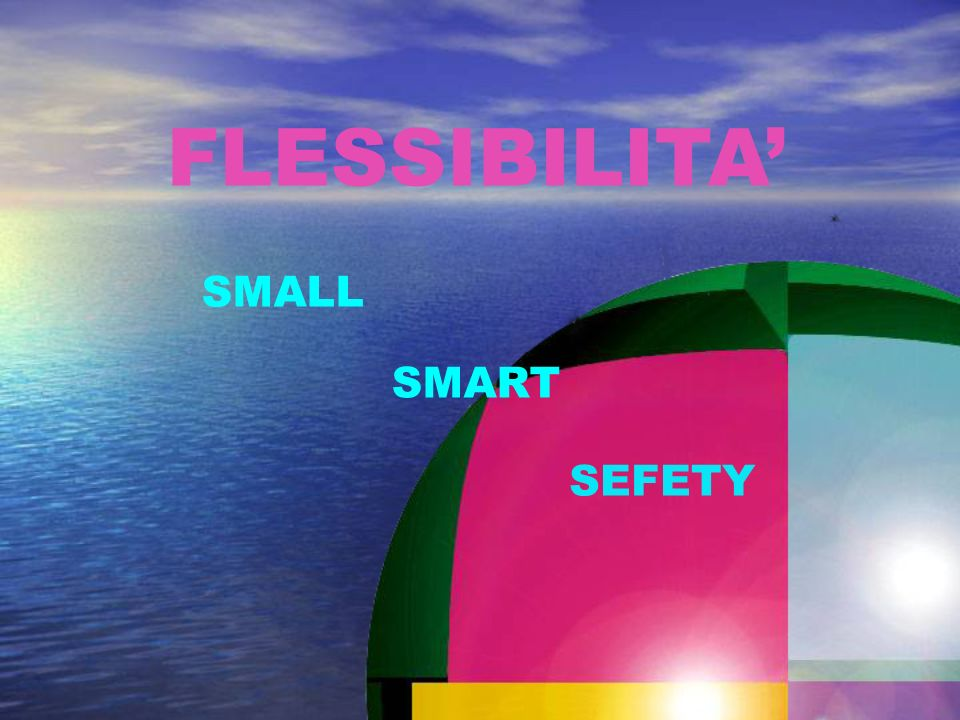 FLESSIBILITA' SMALL SMART SEFETY