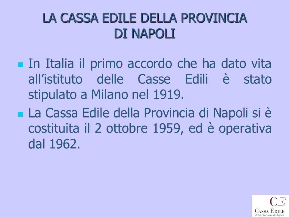 LA CASSA EDILE DELLA PROVINCIA DI NAPOLI