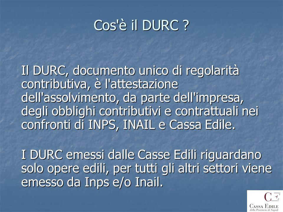 Cos è il DURC