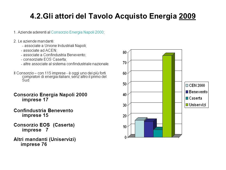 4.2.Gli attori del Tavolo Acquisto Energia 2009