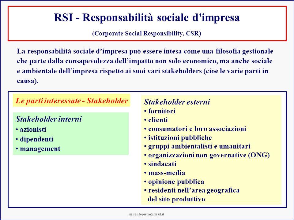 RSI - Responsabilità sociale d impresa
