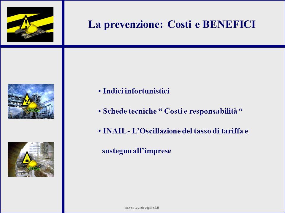 La prevenzione: Costi e BENEFICI