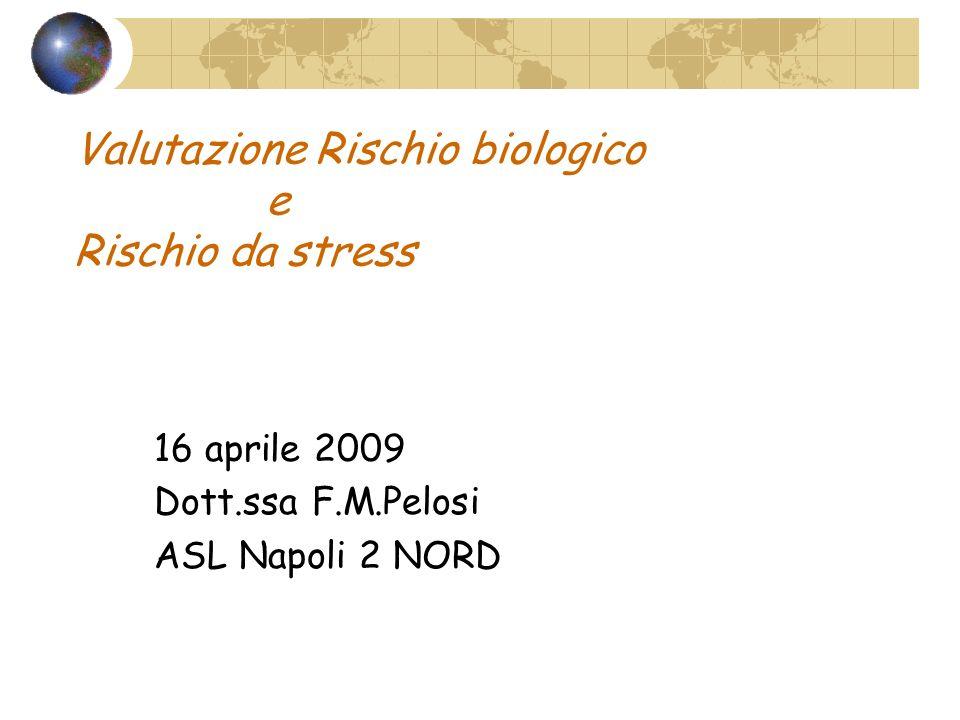 Valutazione Rischio biologico e Rischio da stress