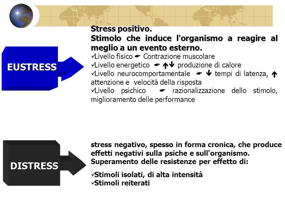 EUSTRESS DISTRESS Stress positivo.