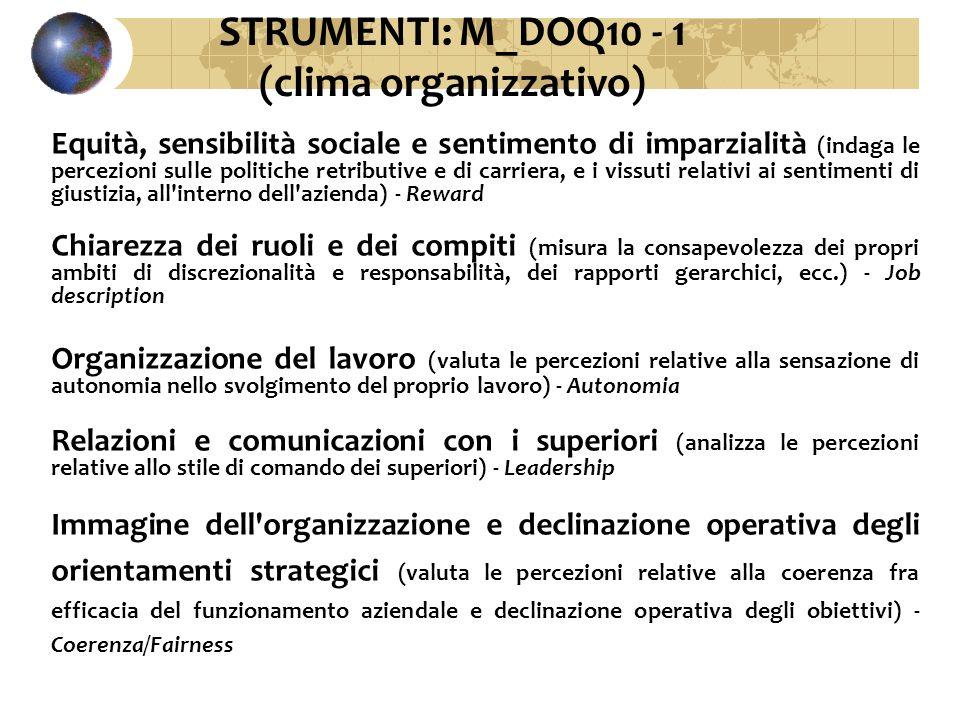 STRUMENTI: M_DOQ10 - 1 (clima organizzativo)