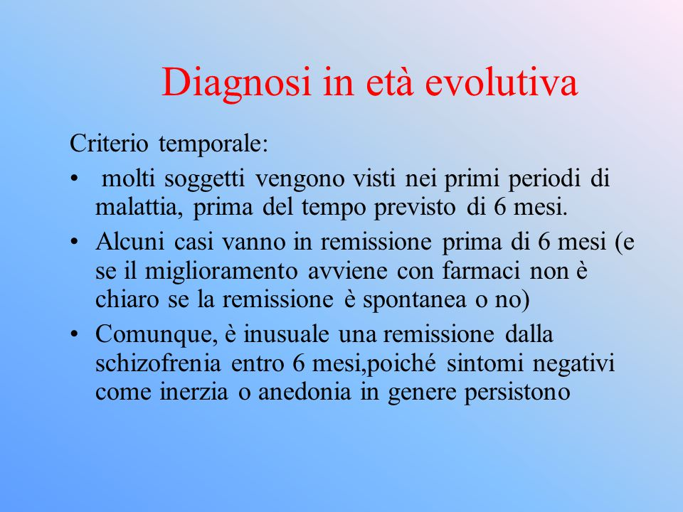 Diagnosi in età evolutiva