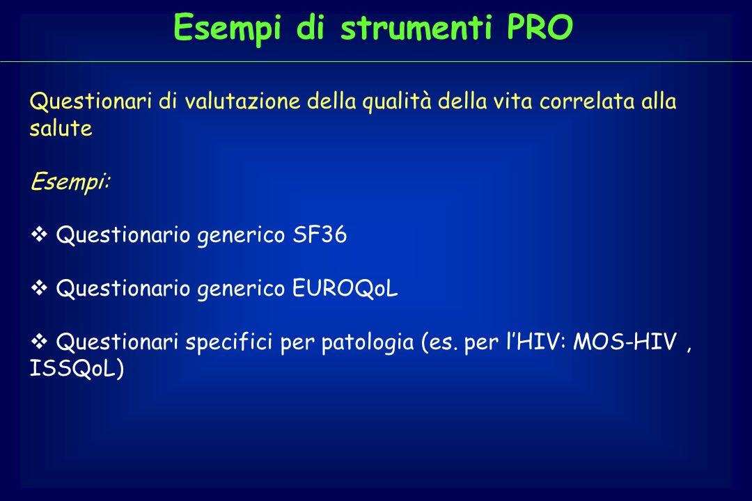 Esempi di strumenti PRO