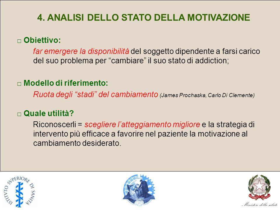 4. ANALISI DELLO STATO DELLA MOTIVAZIONE