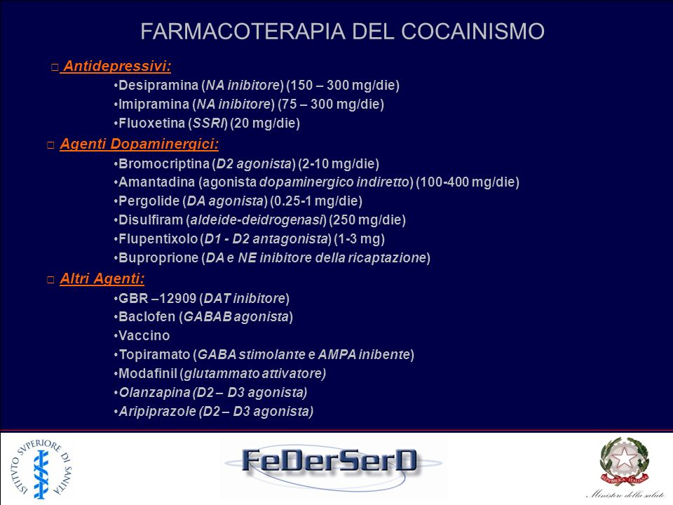 FARMACOTERAPIA DEL COCAINISMO