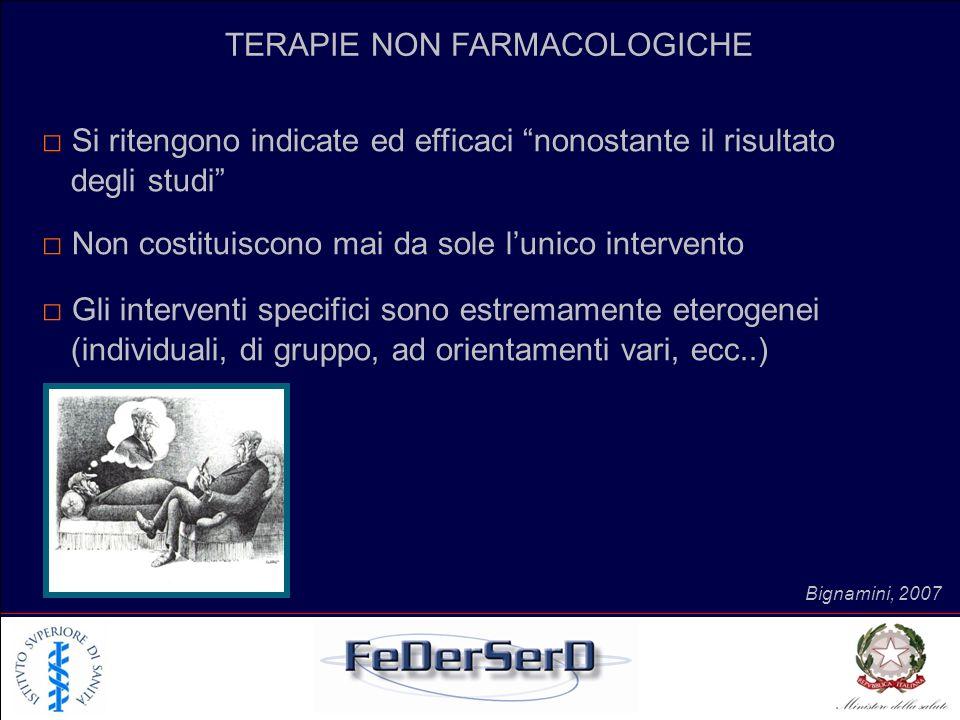 TERAPIE NON FARMACOLOGICHE