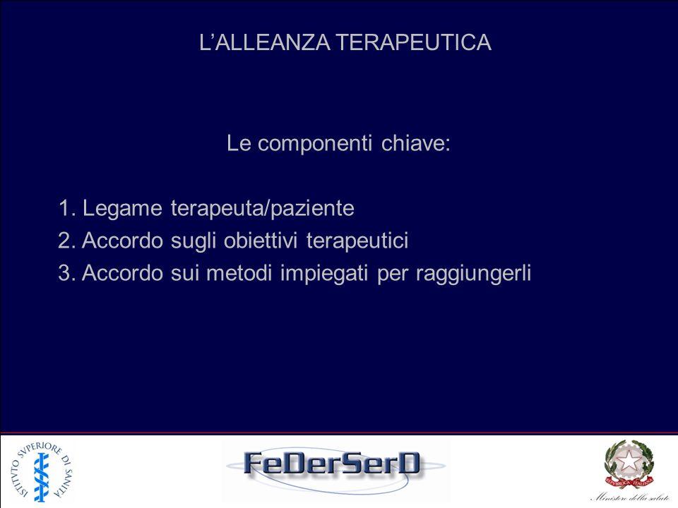 L'ALLEANZA TERAPEUTICA