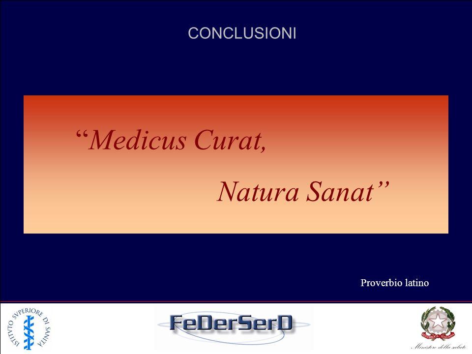 Medicus Curat, Natura Sanat CONCLUSIONI Proverbio latino