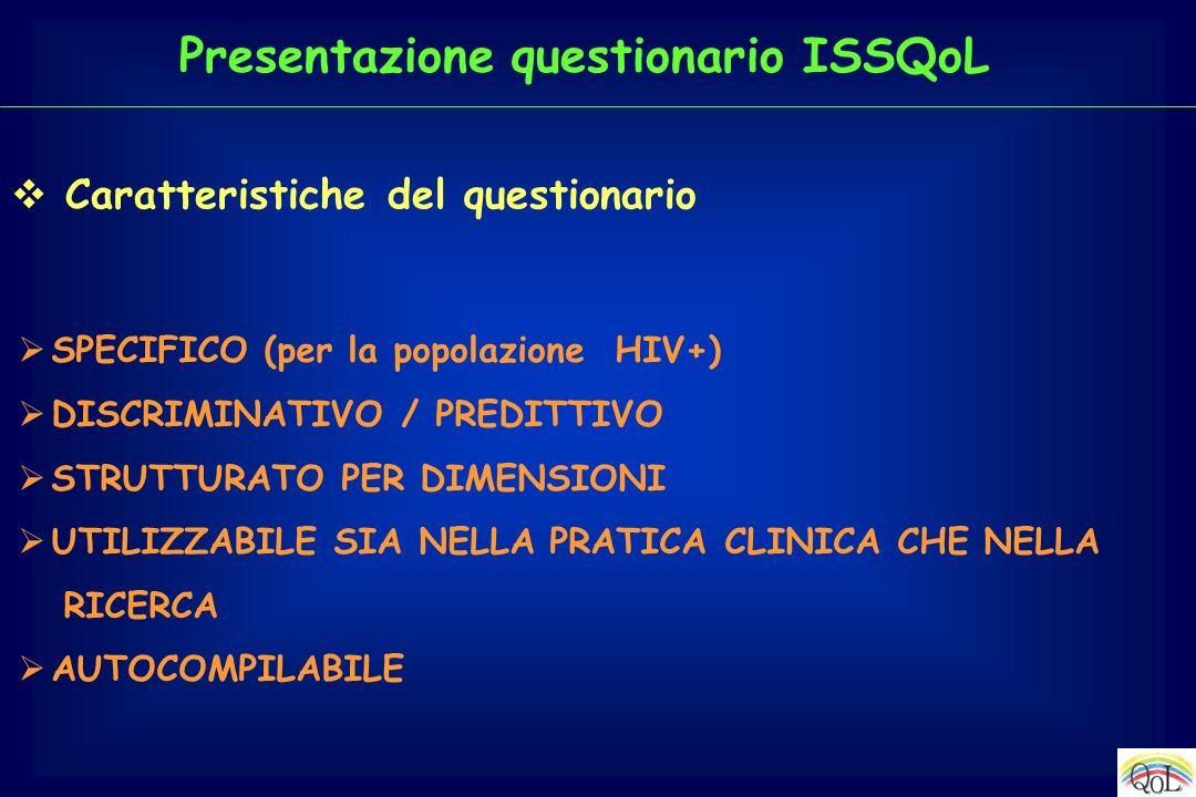 Presentazione questionario ISSQoL
