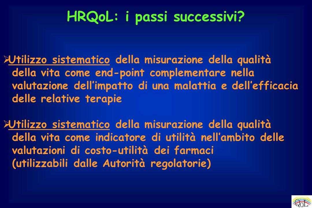 HRQoL: i passi successivi