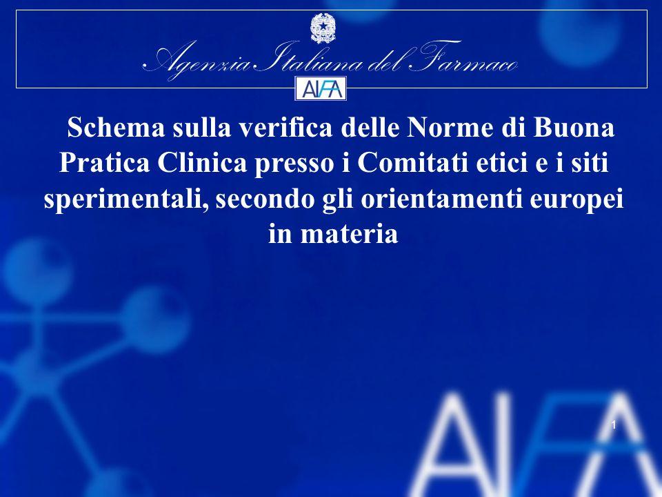 Schema sulla verifica delle Norme di Buona Pratica Clinica presso i Comitati etici e i siti sperimentali, secondo gli orientamenti europei in materia