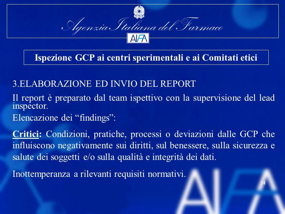 Ispezione GCP ai centri sperimentali e ai Comitati etici