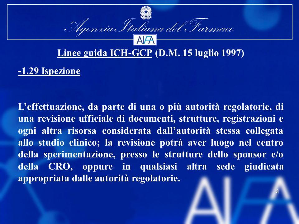 Linee guida ICH-GCP (D.M. 15 luglio 1997)