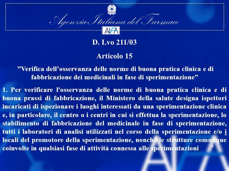 D. Lvo 211/03Articolo 15.