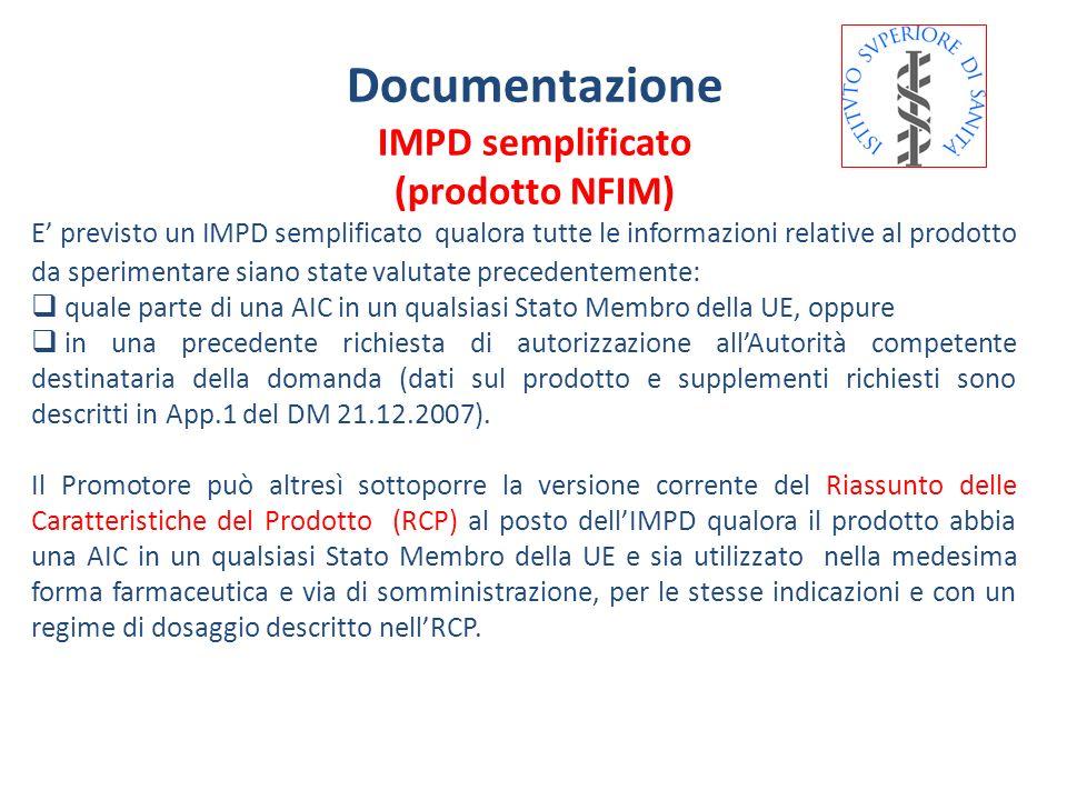 Documentazione IMPD semplificato (prodotto NFIM)