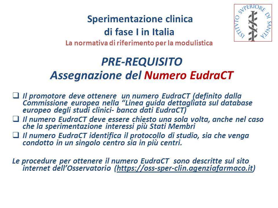 Assegnazione del Numero EudraCT