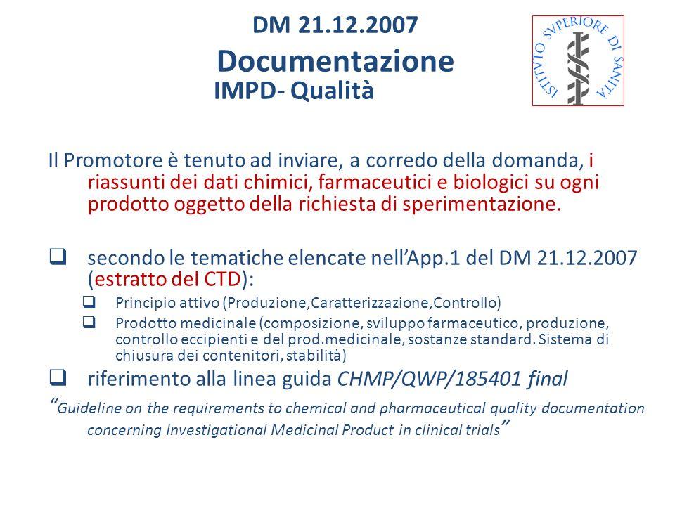 Documentazione IMPD- Qualità DM 21.12.2007