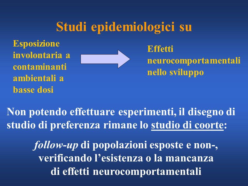 Studi epidemiologici su