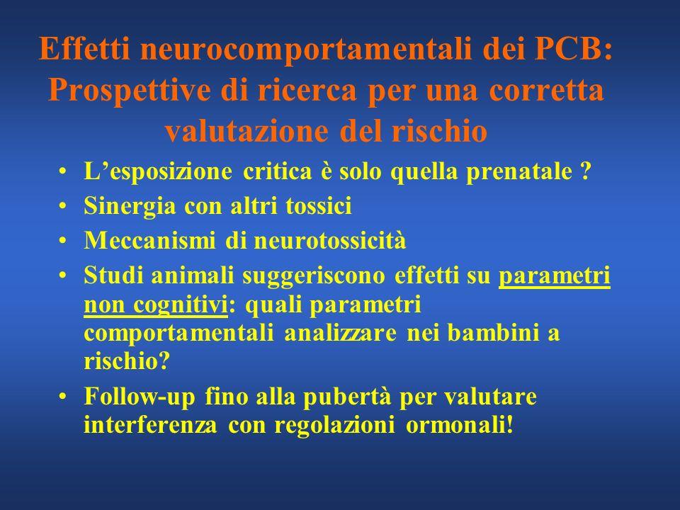 Effetti neurocomportamentali dei PCB: Prospettive di ricerca per una corretta valutazione del rischio
