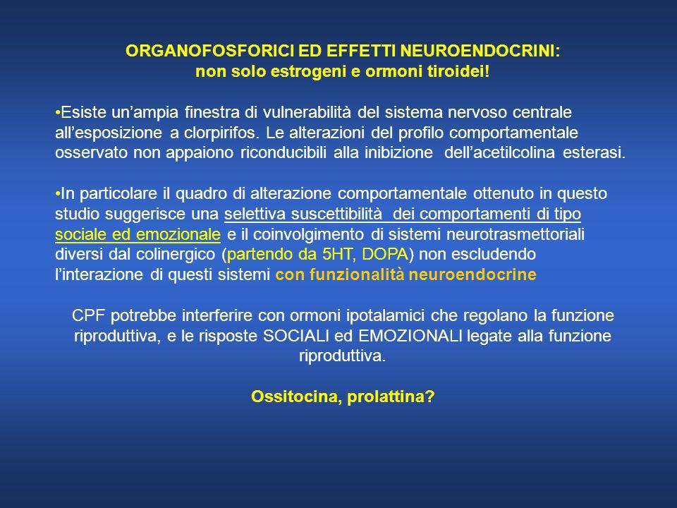 ORGANOFOSFORICI ED EFFETTI NEUROENDOCRINI: