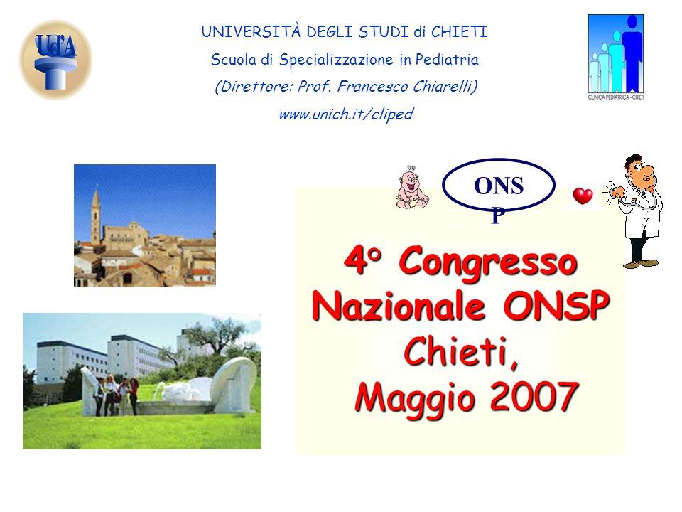 4° Congresso Nazionale ONSP Chieti, Maggio 2007