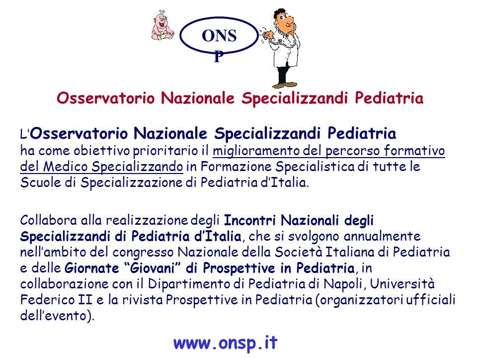 Osservatorio Nazionale Specializzandi Pediatria