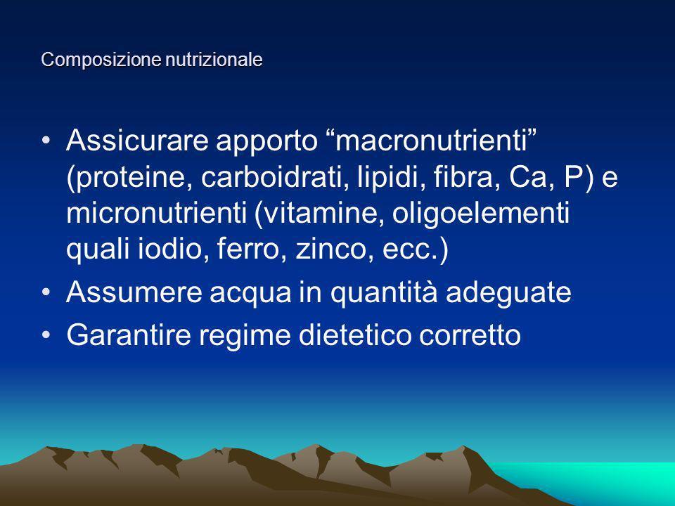 Composizione nutrizionale
