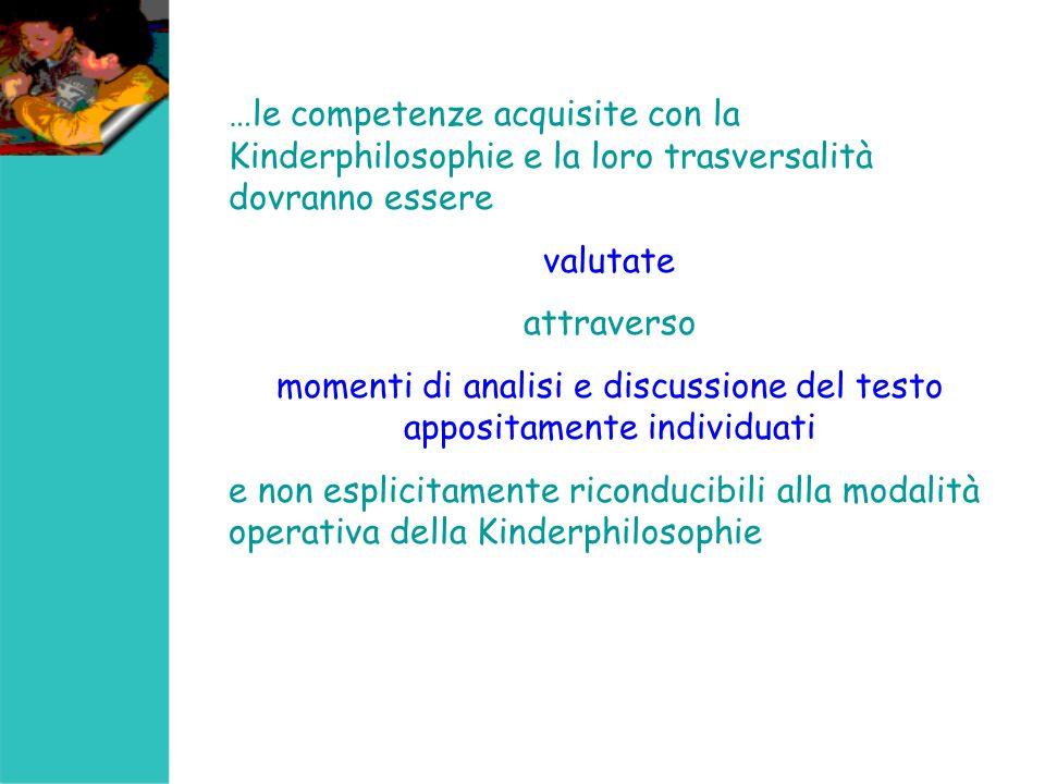 momenti di analisi e discussione del testo appositamente individuati