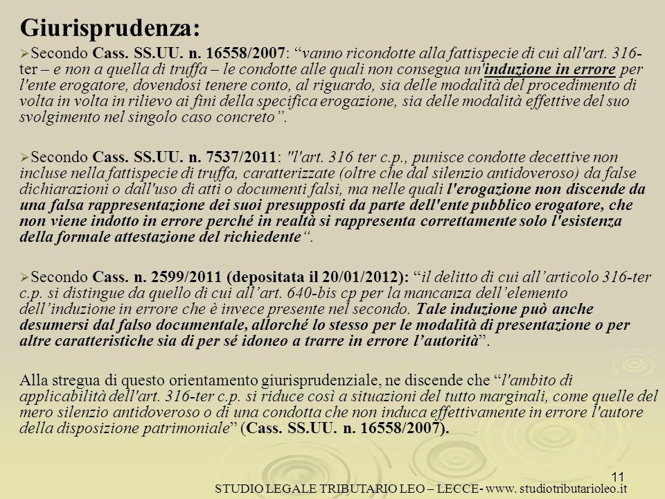 Giurisprudenza: