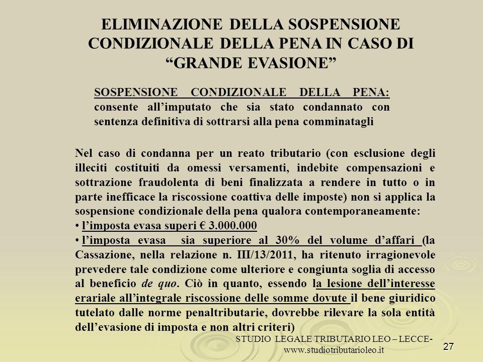 STUDIO LEGALE TRIBUTARIO LEO – LECCE-
