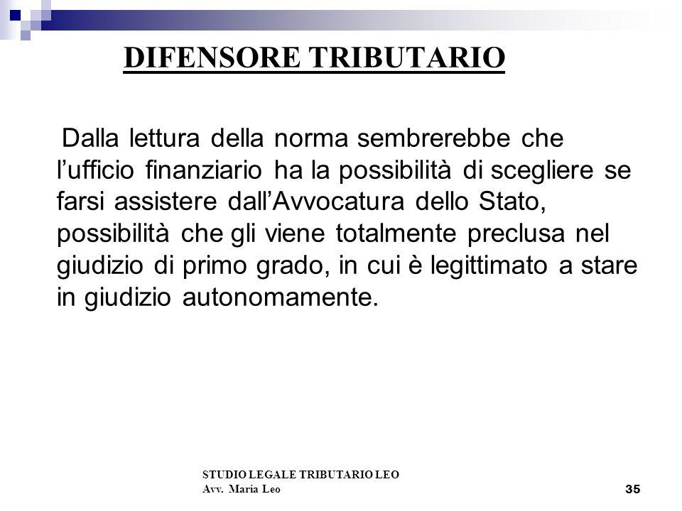 DIFENSORE TRIBUTARIO
