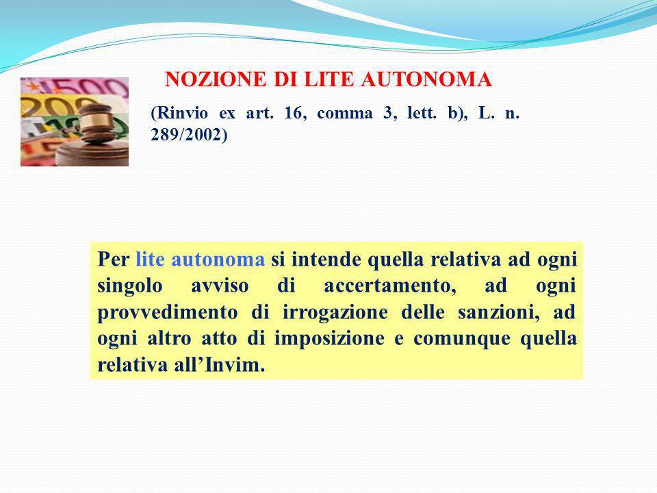 NOZIONE DI LITE AUTONOMA
