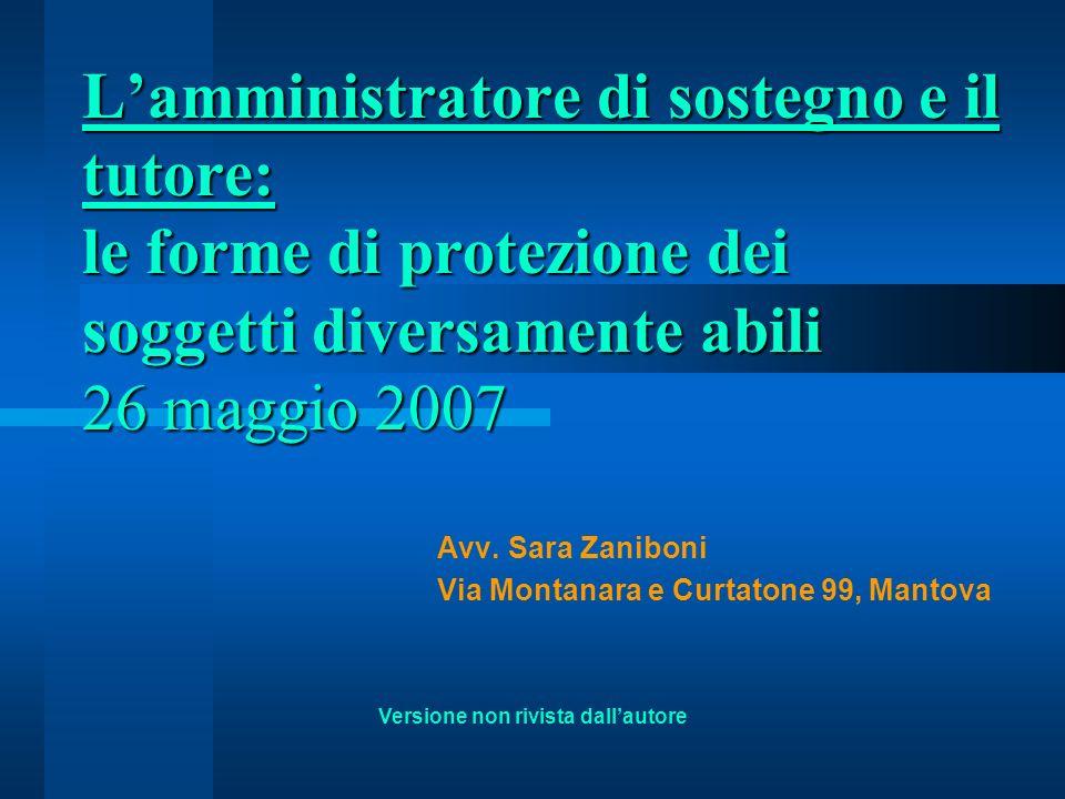 Avv. Sara Zaniboni Via Montanara e Curtatone 99, Mantova