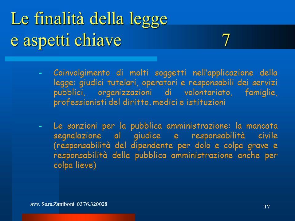 Le finalità della legge e aspetti chiave 7
