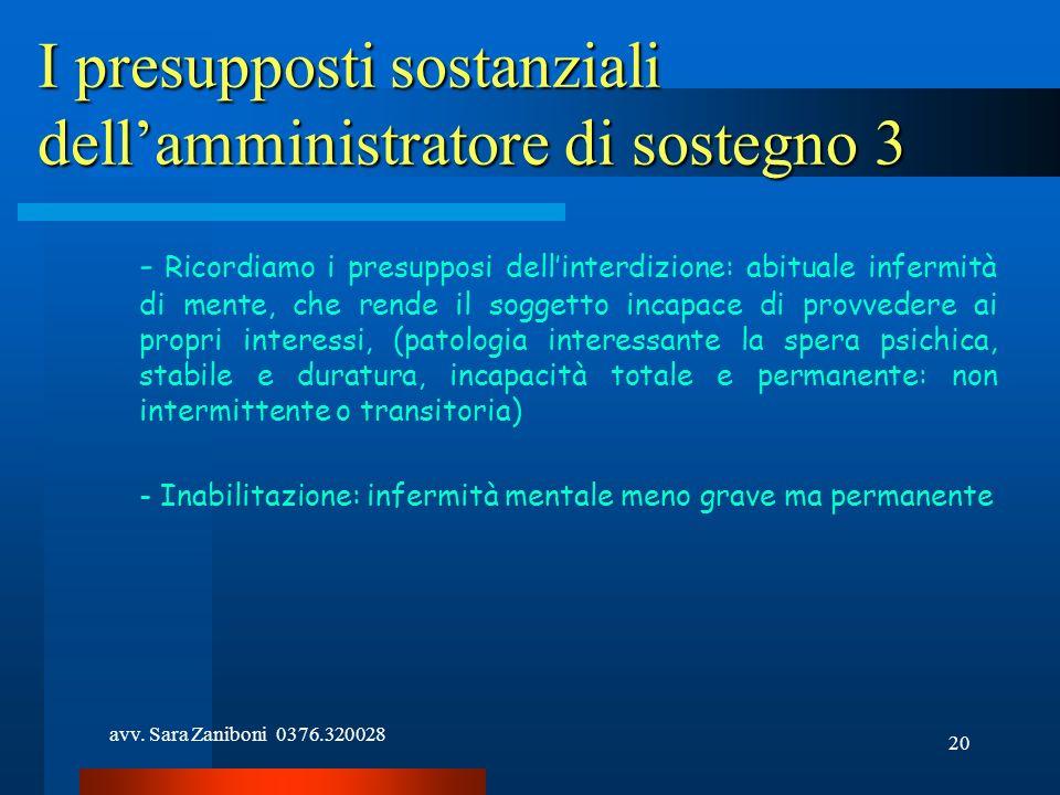 I presupposti sostanziali dell'amministratore di sostegno 3